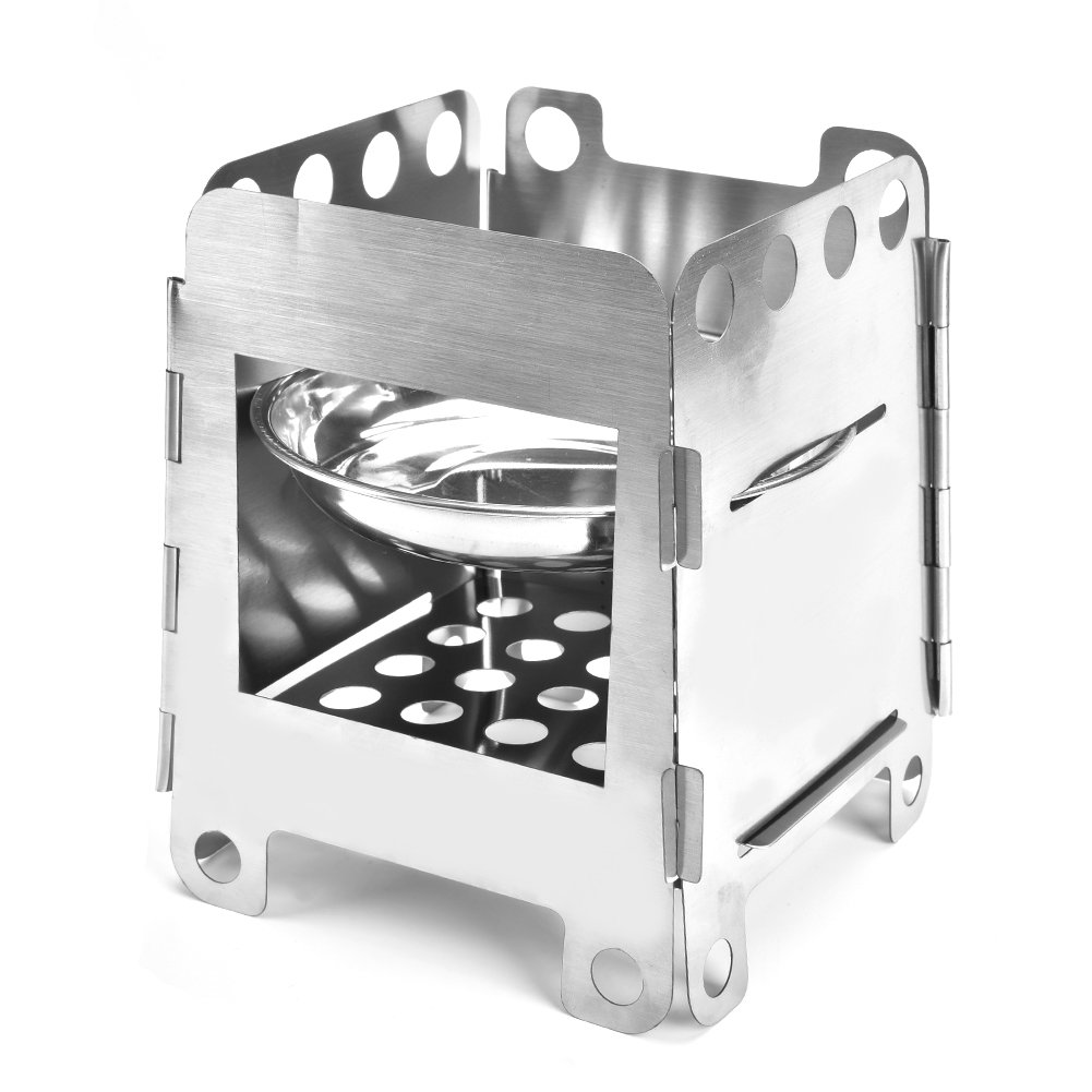 Aramox Picnic Stove Stainless Steel Wood Burning Stove Outdoor Portable Camping Stove