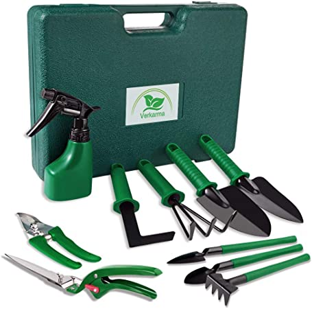 7 Piece Garden Tool Pruning Shears Kit  Vegetable Herb Tools /& Storage Bag USA