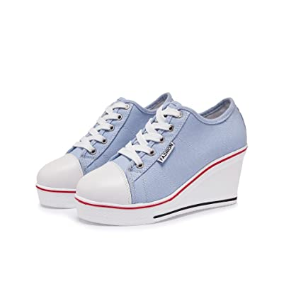 a4e8ca50545f9 Amazon.com: Women's Shoes Canvas Shoes Spring Fall Comfort Sneakers ...