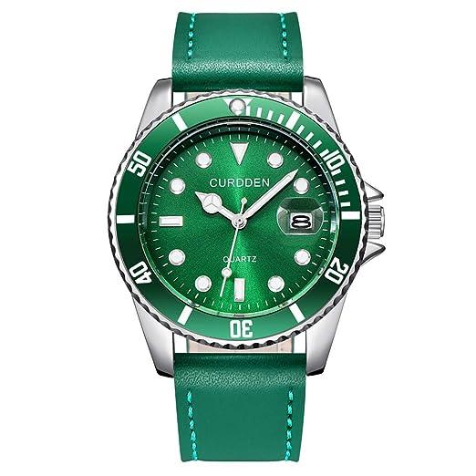 VEHOME Relojes de Bolsillo Reloj de los Hombres de la Moda Banda de Cuero analógico de Cuarzo Reloj de Pulsera Redondo Hombres de Negocios Relojes relojero ...