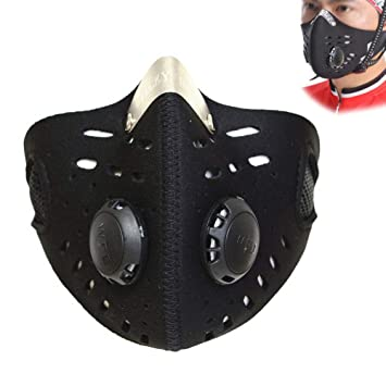 JoyFan Mascarilla Antipolvo Clip de Nariz Ajustable Carbon Activado Polvo Mascara para Actividades al Aire Libre
