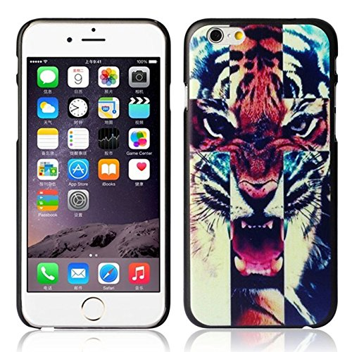Aokdis (TM) Hot Selling Cute Fashional Individualized Hard Case Cover For Iphone6 4.7 Inch (Tiger Roar Cross Quote)