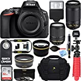 Nikon D5600 24.2MP DX-Format DSLR Camera + AF-S 18-140mm & 70-300mm ED VR Lens + Accessory Bundle