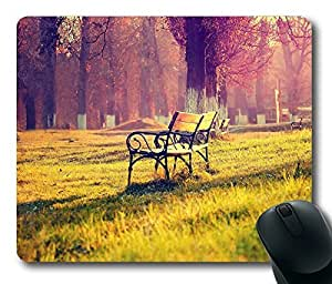 Beautiful Park Bench Masterpiece Limited Design Oblong Mouse Pad by Cases & Mousepads