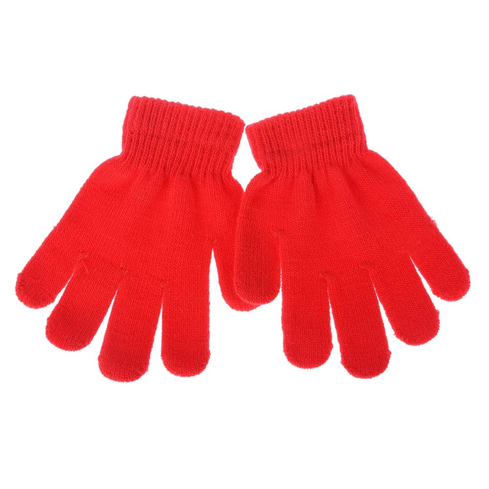 Only One, 3 Pairs Kids Winter Warm Magic Gloves Children Stretchy Warm Knit Glovers