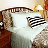 """Luxuriously Soft and Comfortable 4 Piece Tencel Sheet Set, Made From 100% Organic Eucalyptus Fiber, Hypoallergenic and Lightweight, Fits Mattress up to 18"""" Deep - King, Porcelain Green - Flash Sale!!"""