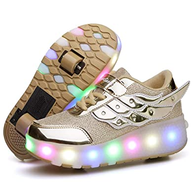 42a4269591ee33 Amazon.com | Nsasy Roller Skates Shoes Girls Boys Roller Shoes Kids Wheel  Shoes Roller Sneakers Shoes with Wheels for Kids | Sneakers