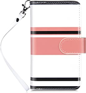 Dailylux Case for iPhone 6 / iPhone 6S - [Built-in 9 Card Slots] Protective Faux Leather Folio Flip Wallet Case for Apple iPhone 6 / 6S 4.7 Inch, Stripe