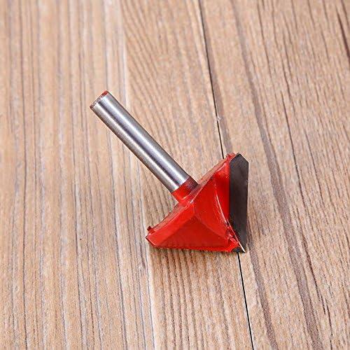 Fresa de ranura en V Grabado de broca Herramienta para trabajar la madera con ranura en V Recorte Biselado Broca fresa de v/ástago de 1//4 pulg