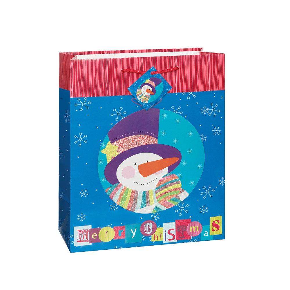 Snowman Merry Christmas Gift Bag