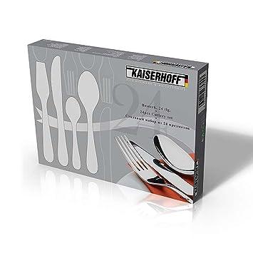 Kaiserhoff - Cuberteria de 24 piezas con estuche de regalo: Amazon.es: Hogar