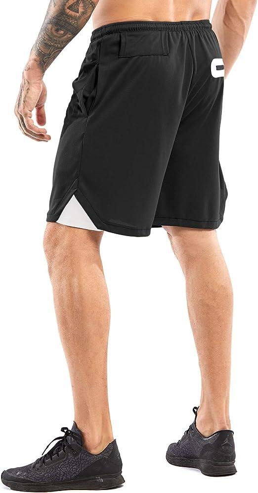 S/échage Rapide Camions de Natation avec Poches /à Fermeture /Éclair Et Taille Elastique,Respirant Actif Shorts de Gymnastique Short de Bains pour Faire des Exercices Xinvivion Hommes Shorts de Sport