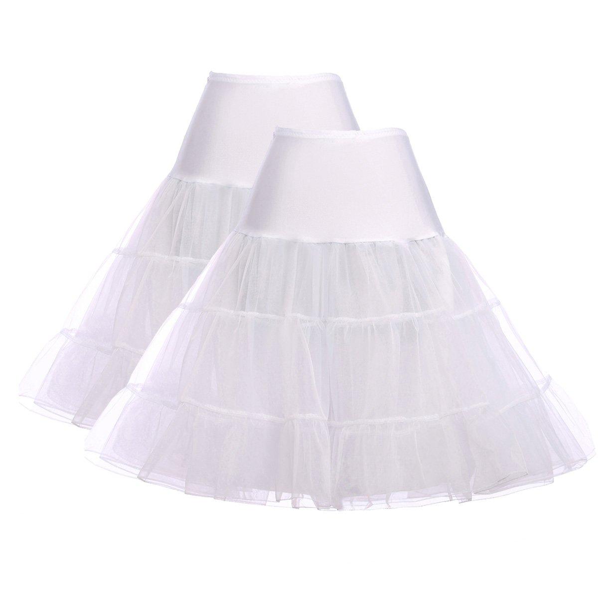 GRACE KARIN Womens 50s Vintage Petticoat Crinoline Tutu Underskirts Plus Size S-3X CL008922New