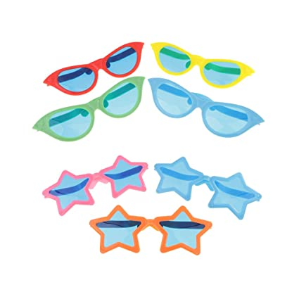 2a1eb49b3be MonkeyJack Pack of 7 Five-pointed Star Funny Sunglasses Halloween Glasses  Fancy Dress Costume Party