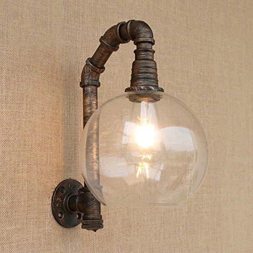 E27 Industrielle Retro Stil Schmiedeeisen Wasser Rohr Wand Lampe