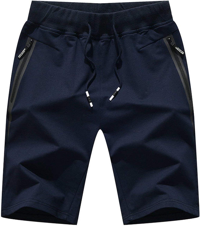 Zalin Men Shorts Casual Beach Shorts Bottoms Elastic Waist Fashion Boardshorts ABZ343,1903,XL