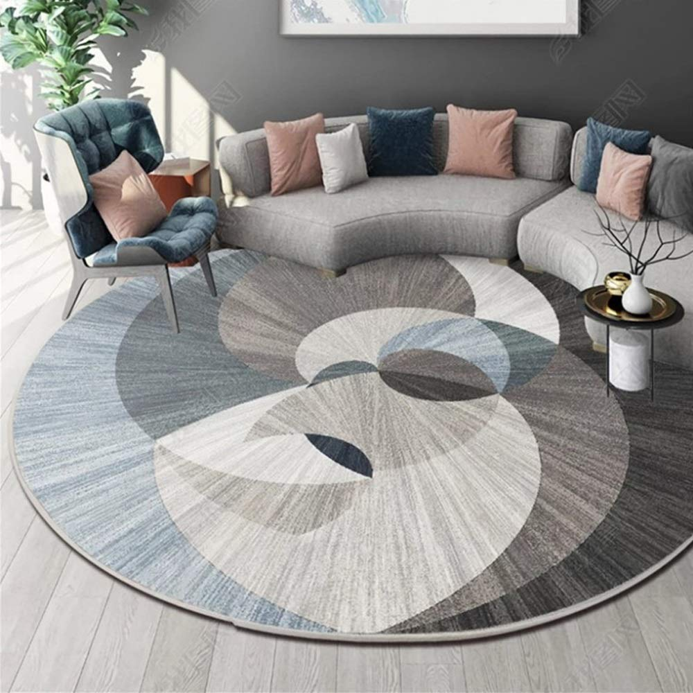 ZCXBB Nordic Chinese Round Dirty Anti-Slip Wear-Resistant Carpet Living Room Bedroom Modern Minimalist American Chair Hanging Chair Round Carpet Can Be Customized (Color : Multi-Colored, Size : XL)