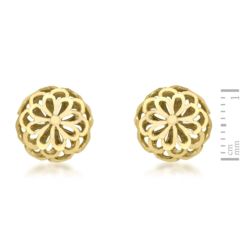 Carissima Gold 10 mm Women\'s 9 ct Yellow Gold 10 mm Diamond Cut ...