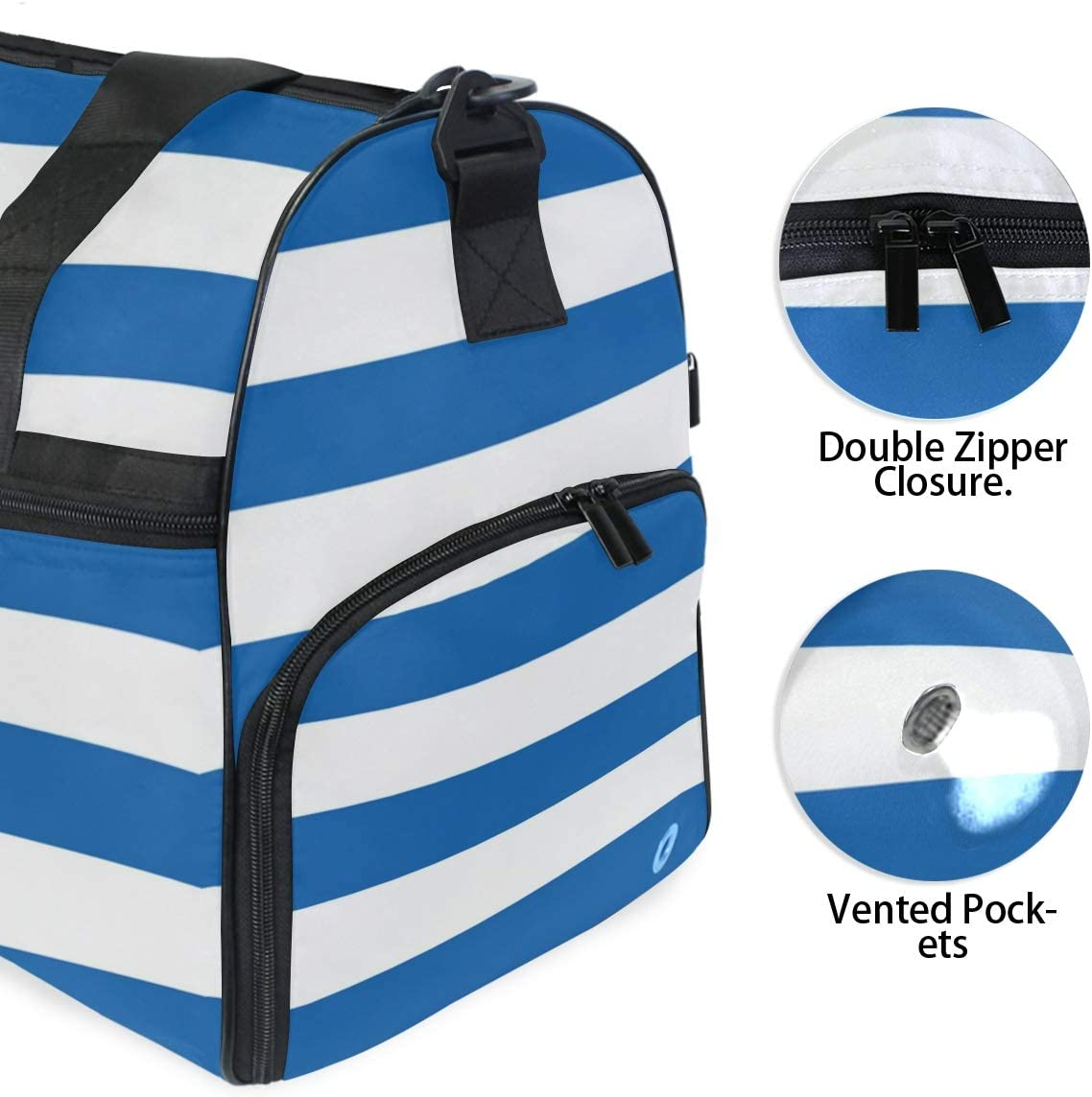 MUOOUM Flag Of The Greece Large Duffle Bags Sports Gym Bag with Shoes Compartment for Men and Women