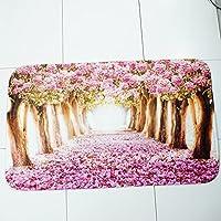 Bloomma 3 piezas de ba/ño antideslizante alfombra europea rosa estilo rom/ántico alfombra de ba/ño para el ba/ño