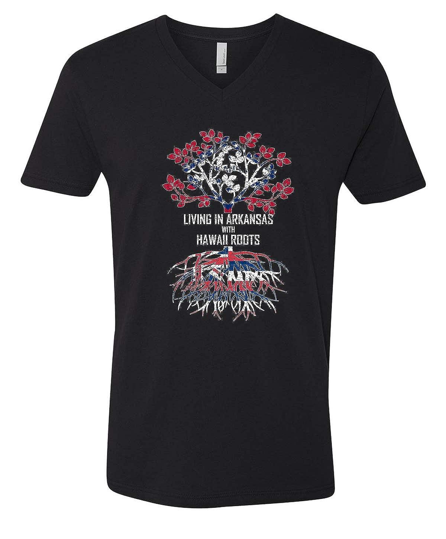 Tenacitee Mens Living in Arkansas Hawaii Roots T-Shirt