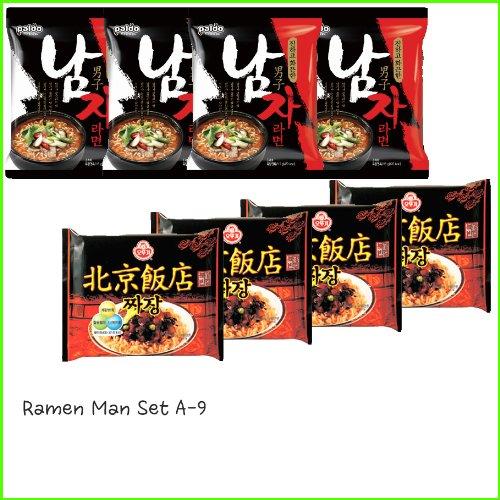 Ramen Man Set A-9(Namja Ramen x4 , Bookyung Jja Jang x4) 라면만 세트 A-9 (남자라면 x4, 북경 짜장 x4)