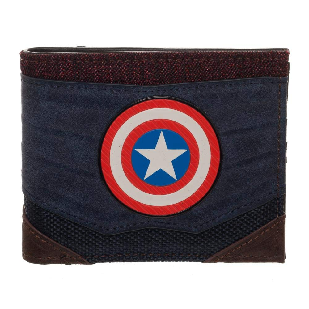 Captain America Chrome Weld Patch Bi-fold Wallet Standard