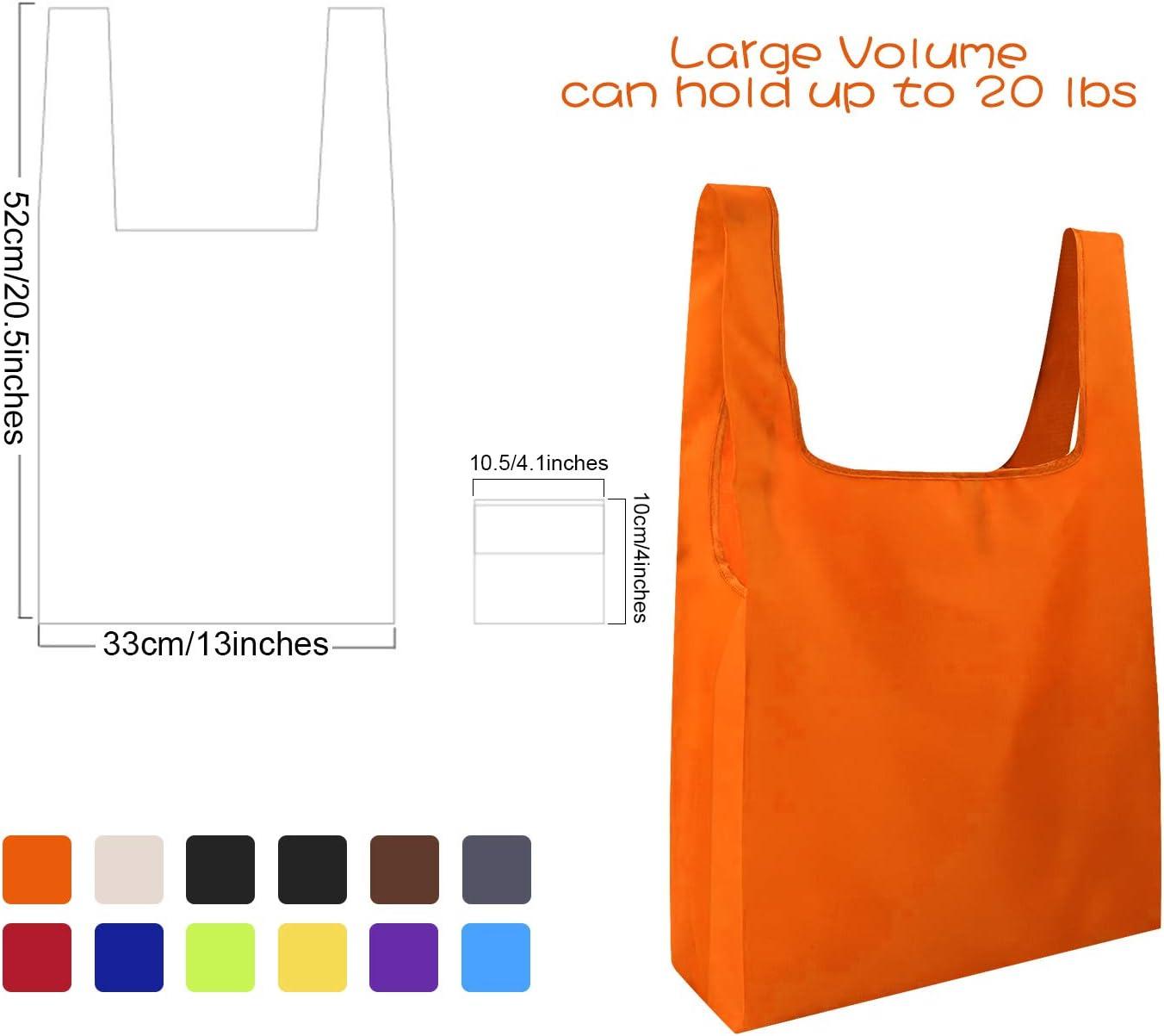 Le Shopping color/é Les Voyages FEPITO 12 Sacs /à provisions r/éutilisables pour Sacs d/épicerie avec Sacs r/éutilisables avec Pochette Sacs /à provisions Pliables pour l/épicerie