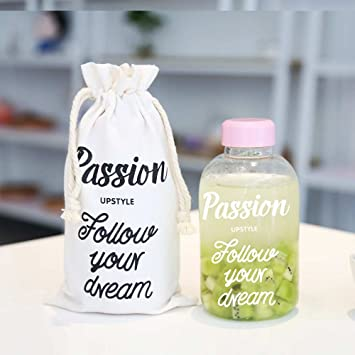 UPSTYLE elegante alta reutilizable de borosilicato zumo de leche botellas de vidrio para leche Exprimir gran