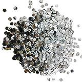 Sparkle Silver Metallic Foil Round Confetti