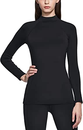 TSLA 1 or 2 Pack Women's Thermal Wintergear Compression Baselayer Long Sleeve Shirts Sports Performance Active T-Shirts
