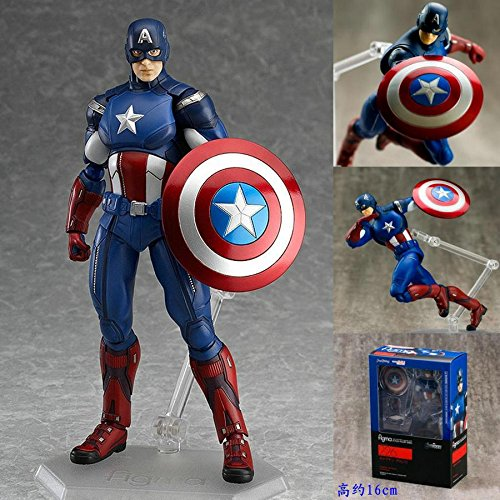 [Figma 226 Captain America The Avengers Anime Action Figure New In Box] (Legend Lord Of Darkness Costume)