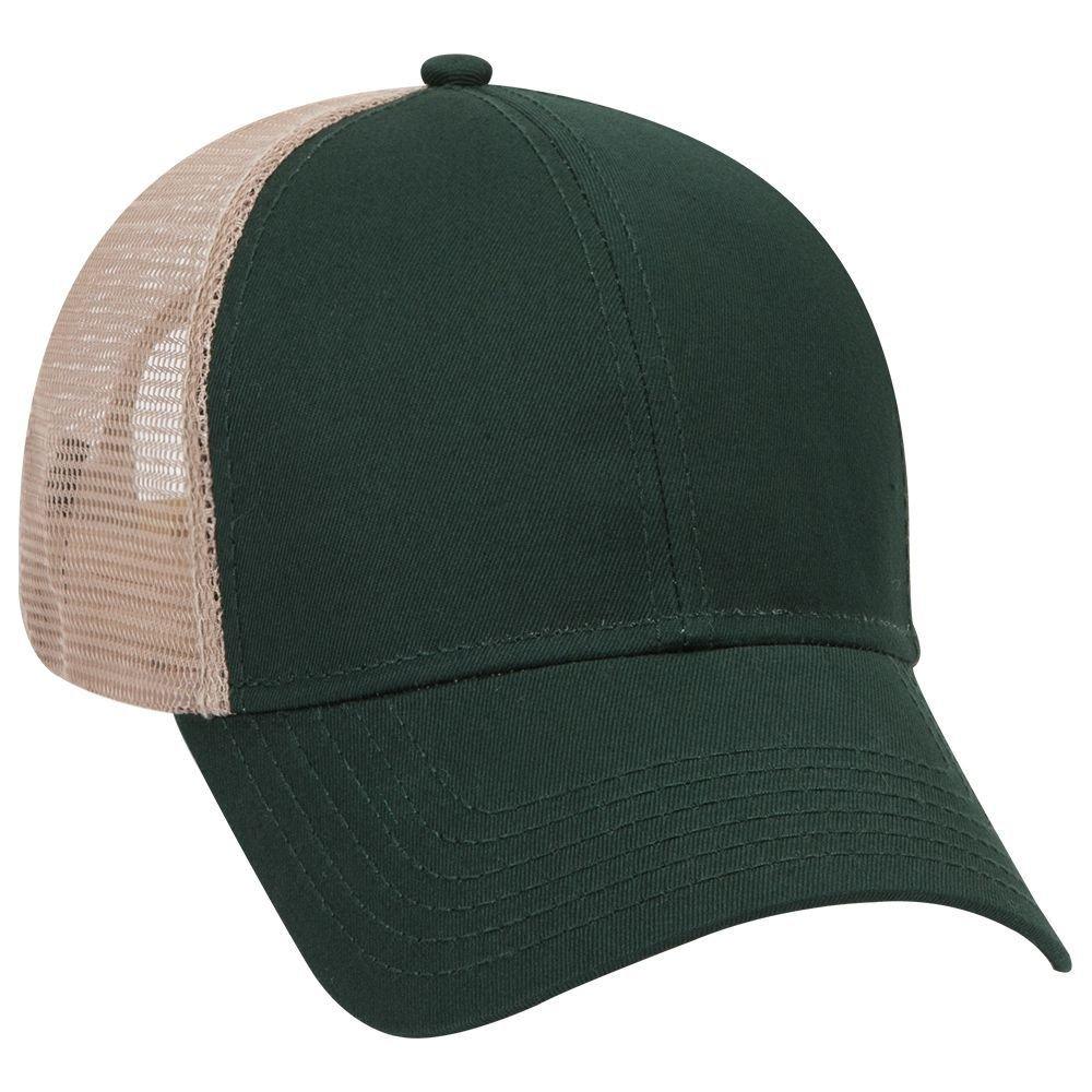 d727b7cd063 Product of Ottocap Cotton Twill Six Panel Low Profile Mesh Back Trucker Hat  -Black  Wholesale Price on Bulk  at Amazon Men s Clothing store