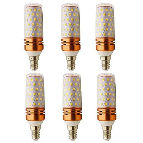 6 x LED estándar Bombilla E14, 10 W/1000 lm/luz blanca cálida