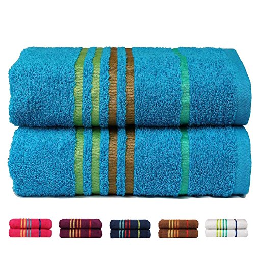 Casa copenhagen exotic collezione set di 2 asciugamani da bagno 60cm x 120cm in cotone - Casa copenaghen ...