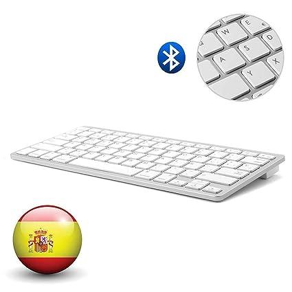 Dingrich Teclado Inalámbrico Español Bluetooth 3.0 conexión, Uso ...