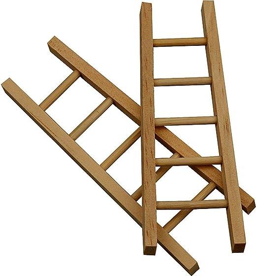 greedeko - 6 Escaleras para manualidades, 10 x 4 cm, para decoración, personalizables: Amazon.es: Hogar