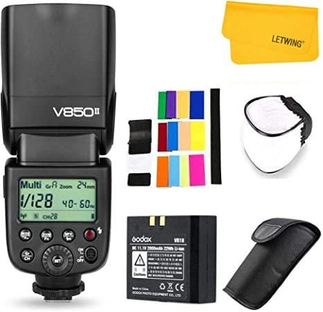 Godox Ving V850II GN60 2.4G 1 / 8000s HSS Cámara Flash Speedlight ...