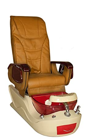 amazon com red and white pedicure spa massage chair with free stool
