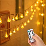 Cosumina 33 FT 80 LED Battery Operated Globe Ball String Lights Fairy String Lights Decor for Bedroom Patio Indoor & Outdoor