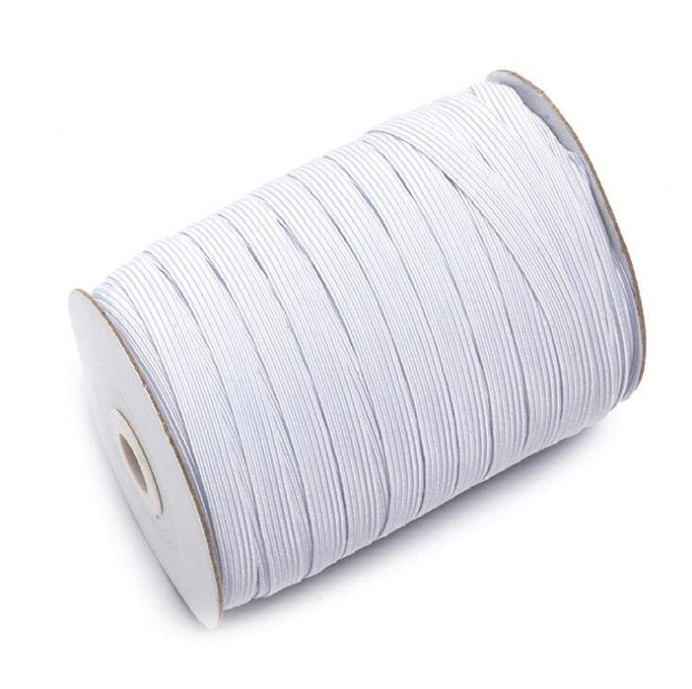 100/m bobina de 1/cm de ancho el/ástico cord/ón el/ástico banda el/ástica soporte de el/ástico de costura para tejer cuerda blanco