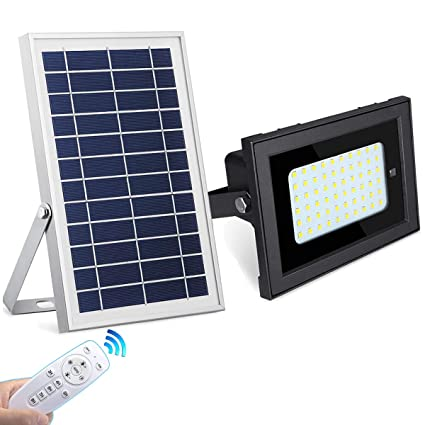 Solar Powered 50 LED Spotlight Wall Light Flood Light Outdoor Garden Cold White