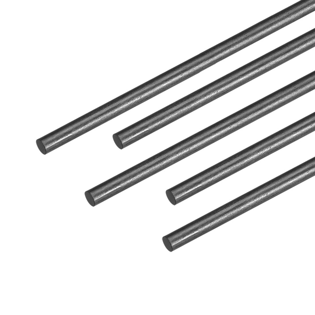 5pcs uxcell 2.5mm Carbon Fiber Bar for RC Airplane Matte Pole US 400mm 15.7 inch