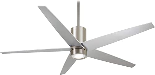 Minka Aire Symbio 56 in. Integrated LED Indoor Brushed Nickel Ceiling Fan