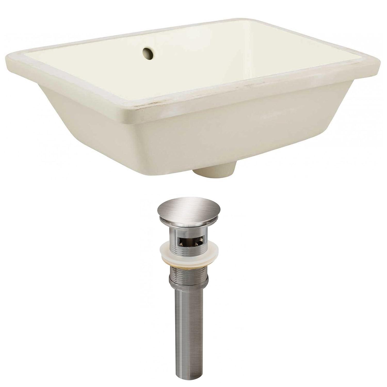 American Imaginations AI-888-24806 Undermount Sink Set Biscuit