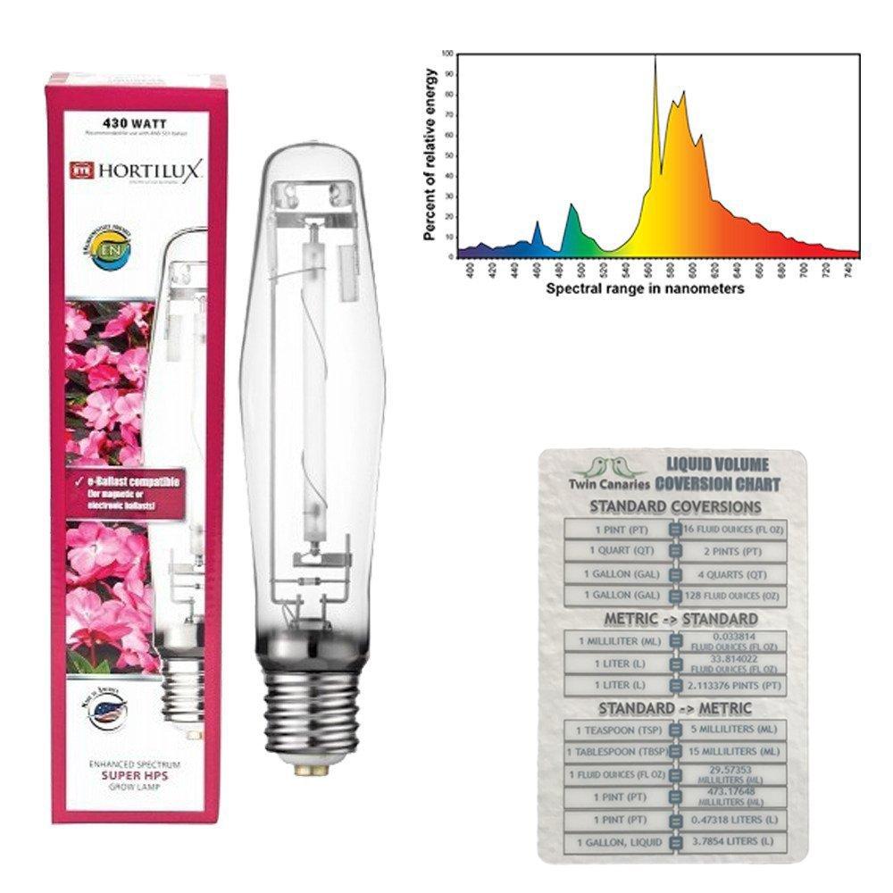 Various Sizes Hortilux Super Hps Enhanced Spectrum Bulb 1000 Watt High Pressure Sodium Ballast Wiring Diagram Lamp Twin Canaries Chart 250 W Garden Outdoor
