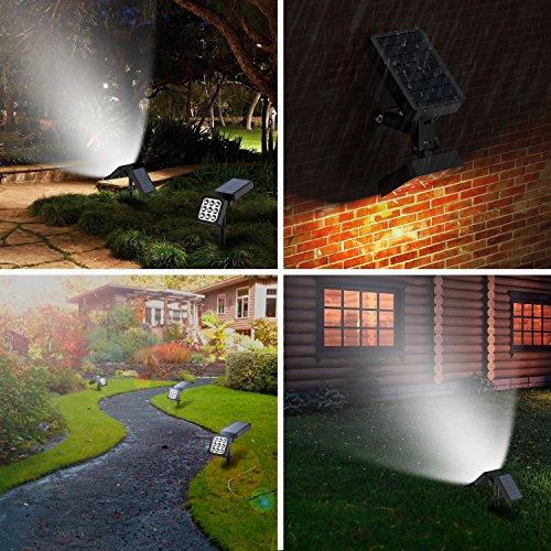 Solar Spotlights 2-in-1 Waterproof Outdoor Landscape Lighting 9 LED Adjustable Spotlight Wall Light Auto ... & Spotlights 2-in-1 Waterproof Outdoor Landscape Lighting 9 LED ... azcodes.com