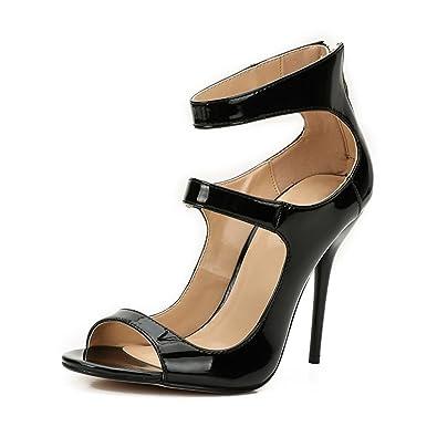 09d632ae8ad3 fereshte Men s Women s Crossdress Crossdresser Drag Queen Strappy High  Heels Stiletto Party Pumps Big Size Black