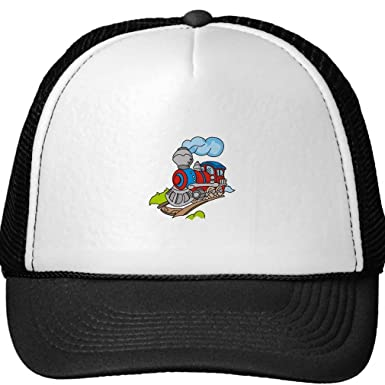432b0d9af2d Smity 106 Red and Blue Train Trucker Hat at Amazon Men s Clothing store