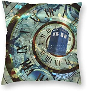 antcreptson Doctor Dr Who Police Box Mice Throw Pillow Decorative Pillow Case Home Decor Square 18x18 Inches Pillowcase